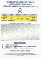 CONCURSO PÚBLICO DA CÂMARA MUNICIPAL - AGENTE DE APOIO